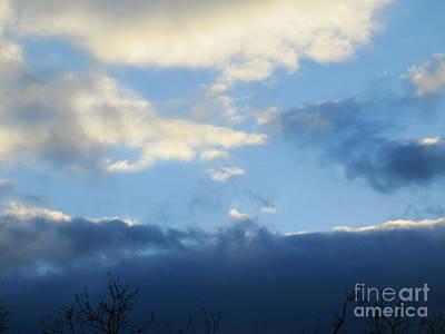 Photograph - Inkblot Clouds 2 by Tara  Shalton