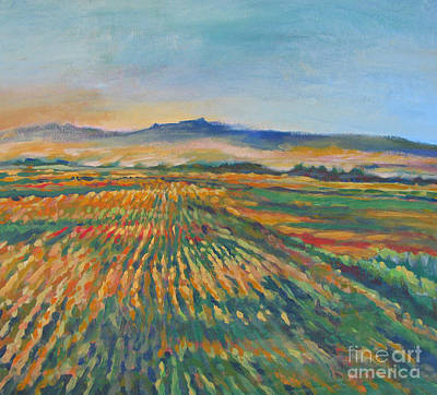 Modesto Painting - Inland Fields by Vanessa Hadady BFA MA