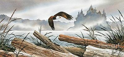 Inland Sea Eagle Art Print