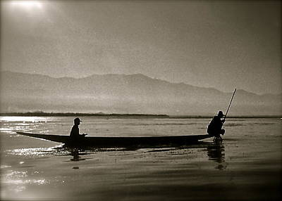 Inle Fishermen Art Print by Kim Pippinger