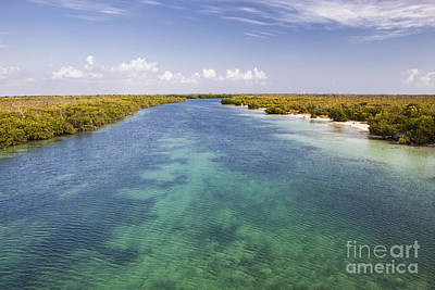 Photograph - Inlet Leading To Caribbean Ocean by Bryan Mullennix