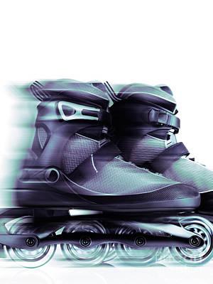 Inline Skates Rollerblades Artistic Dynamic Still Ife Art Print by Oleksiy Maksymenko
