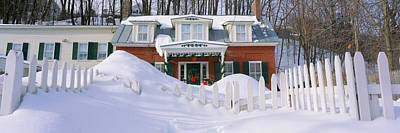 Inn At Wintertime, Vermont Art Print by Panoramic Images