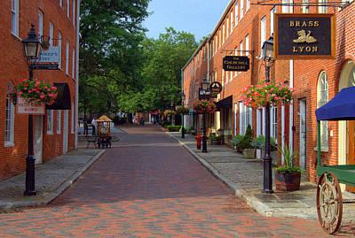 Photograph - Inn Street Newburyport Massachusetts by Caroline Stella
