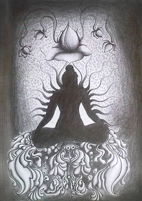 Chakra Drawing - Inner Bliss by Abhilash Am