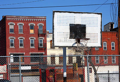 Ghetto Photograph - Inner City Basketball Court by Denis Tangney Jr