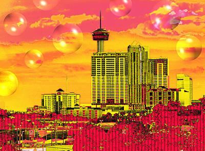 Digital Art - Inner City - Day Dreams by Wendy J St Christopher