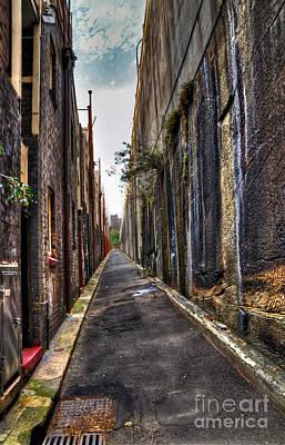 Grate Photograph - Inner City Lane 2 by Kaye Menner