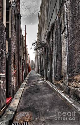 Grate Photograph - Inner City Lane by Kaye Menner