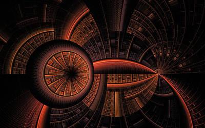 Art Print featuring the digital art Inner Core by GJ Blackman