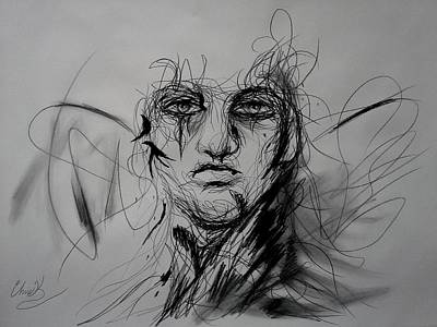 Drawing - Inner Demons by Christopher Kyle