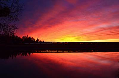 Inner Glow Sunset Art Print