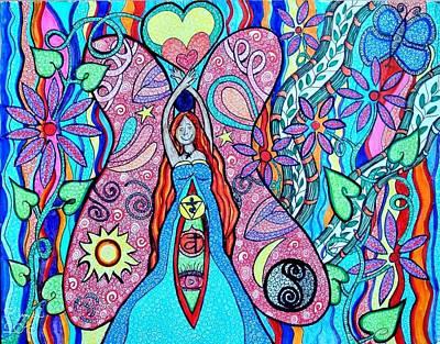 Inner Goddess Art Print by Kim Larocque