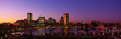 Maryland Photograph - Inner Harbor, Baltimore, Sunset by Panoramic Images