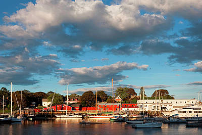 Inner Harbor, Camden Maine Art Print by Susan Degginger