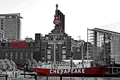 Md Digital Art - Inner Harbor by DJ Florek
