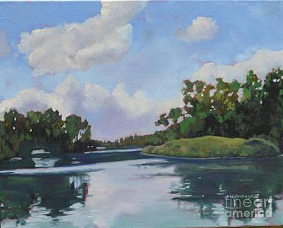 Painting - Inner Islands Toronto Island by Joan McGivney