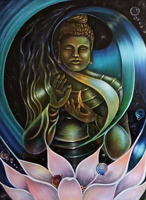 Inner Peace Art Print by Jessica  Venzor