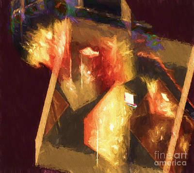 Painting - Inner Turmoil Digital Oil Painting by Ed Churchill