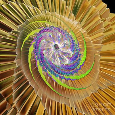 Generative Digital Art - Inner Twister by Deborah Benoit