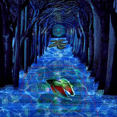 Inner Woods Art Print by Maria Jesus Hernandez