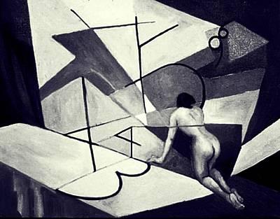 Inner World Painting - Inner World In Black And White by Nancy Wait