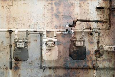 Photograph - Innercity Gas Meters by John Noel
