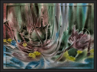 Pastel - Innerflowerscape 2010 by Glenn Bautista