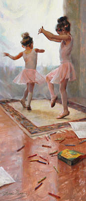 Dance Ballet Roses Painting - Innocence by Anna Rose Bain