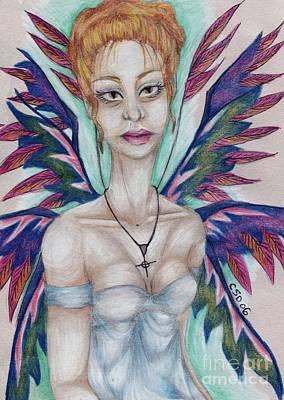 Wiccan Drawing - Innocence II by Coriander  Shea