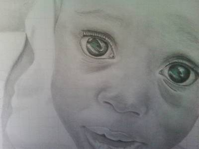 Pencil Drawings Pastel - Innocence Revisited by Lury Norris