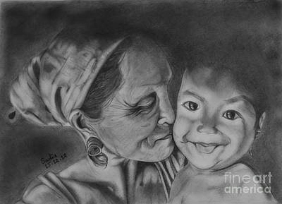 Sweet Kiss Drawing - Innocence  by Sadia Zaman