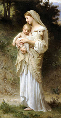 Woman Holding Baby Digital Art - Innocence by William Bouguereau