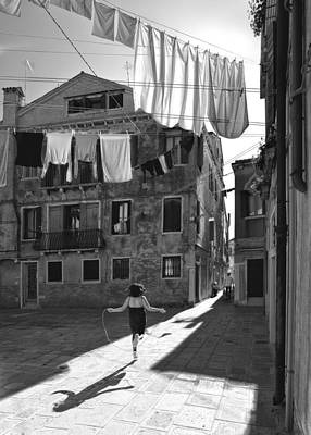 Laundry Photograph - Innocent Games by Francesco Deste