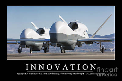 Uca Photograph - Innovation Inspirational Quote by Stocktrek Images
