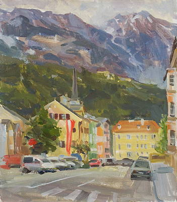 Mountain Royalty-Free and Rights-Managed Images - Innsbruck by Victoria Kharchenko