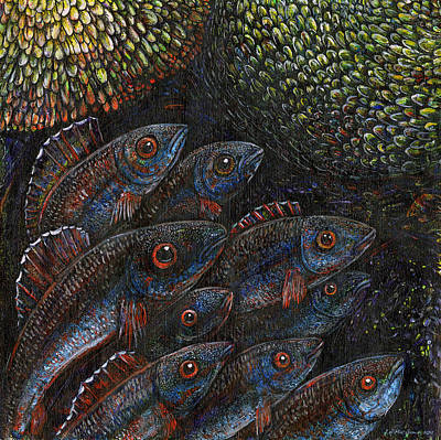 Inquisitive Fish Original by Joe MacGown