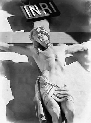 Crucifixion Symbol Photograph - Inri by Pati Photography