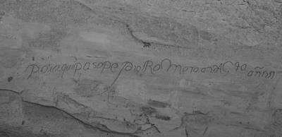 1920s Flapper Girl - Inscription Rock 9 by Angus Hooper Iii