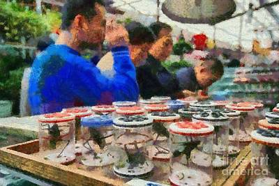 Painting - Insect Market In Shanghai by George Atsametakis