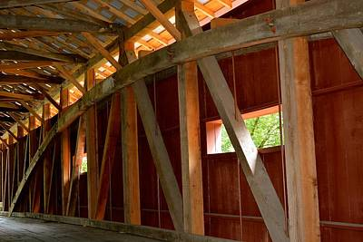 Photograph - Inside A Covered Bridge 2 by Tana Reiff