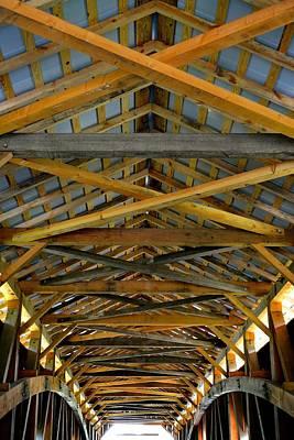 Photograph - Inside A Covered Bridge 3 by Tana Reiff
