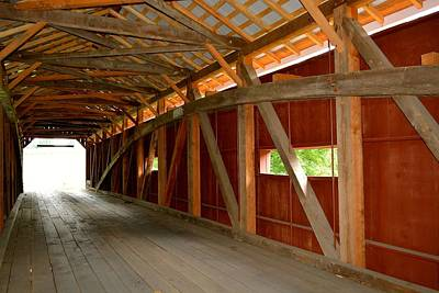 Photograph - Inside A Covered Bridge by Tana Reiff
