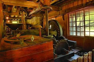 Photograph - Inside A Grist Mill by Adam Jewell