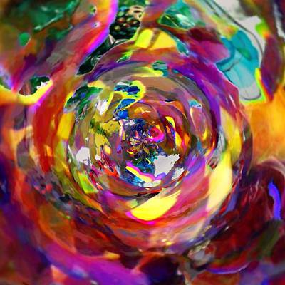 Gypsy Digital Art - Inside A Marble by Leanne Stock