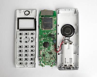 Processor Photograph - Inside A Phone by Robert Brook