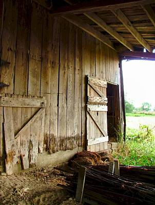 Inside An Indiana Barn Art Print by Julie Dant