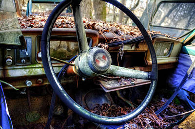 Photograph - Inside An Old Jeep by Greg Mimbs
