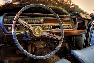 Photograph - Inside An Oldsmobile F-85 by Greg Mimbs