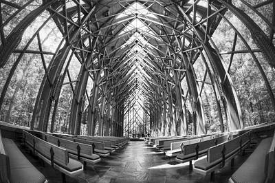 Photograph - Inside Anthony Chapel - Hot Springs - Arkansas by Jason Politte